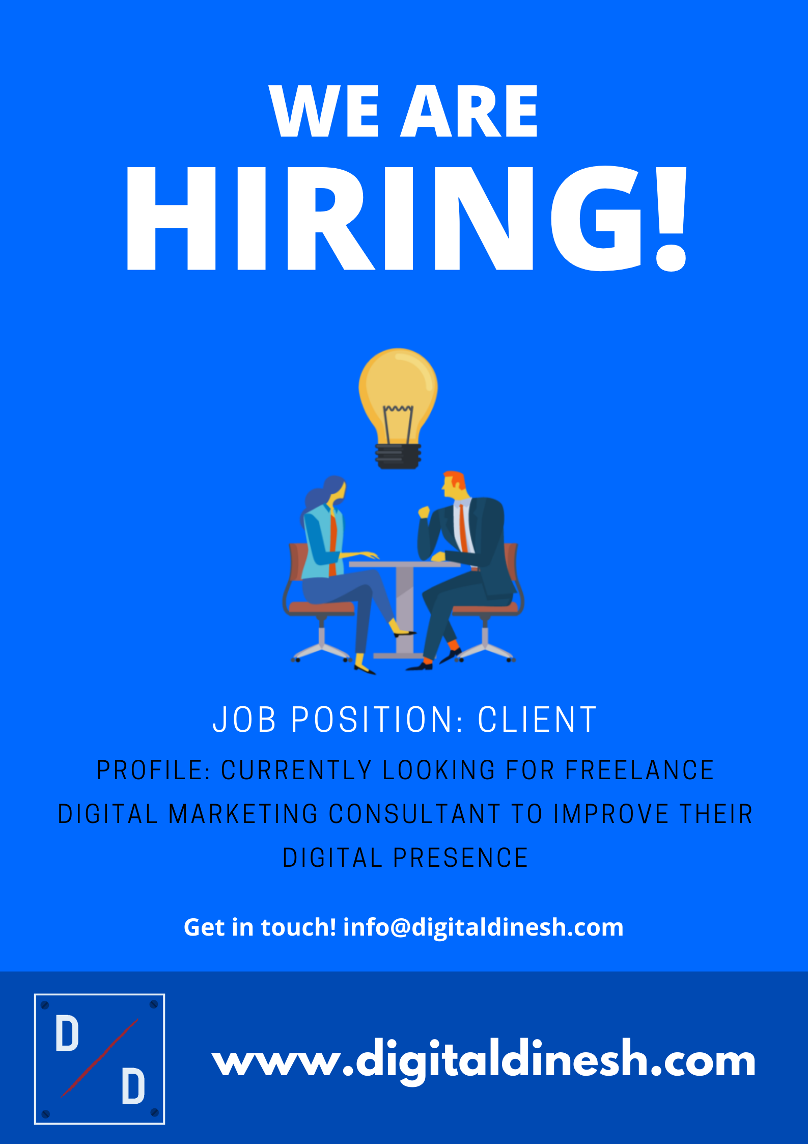 We are hiring for business